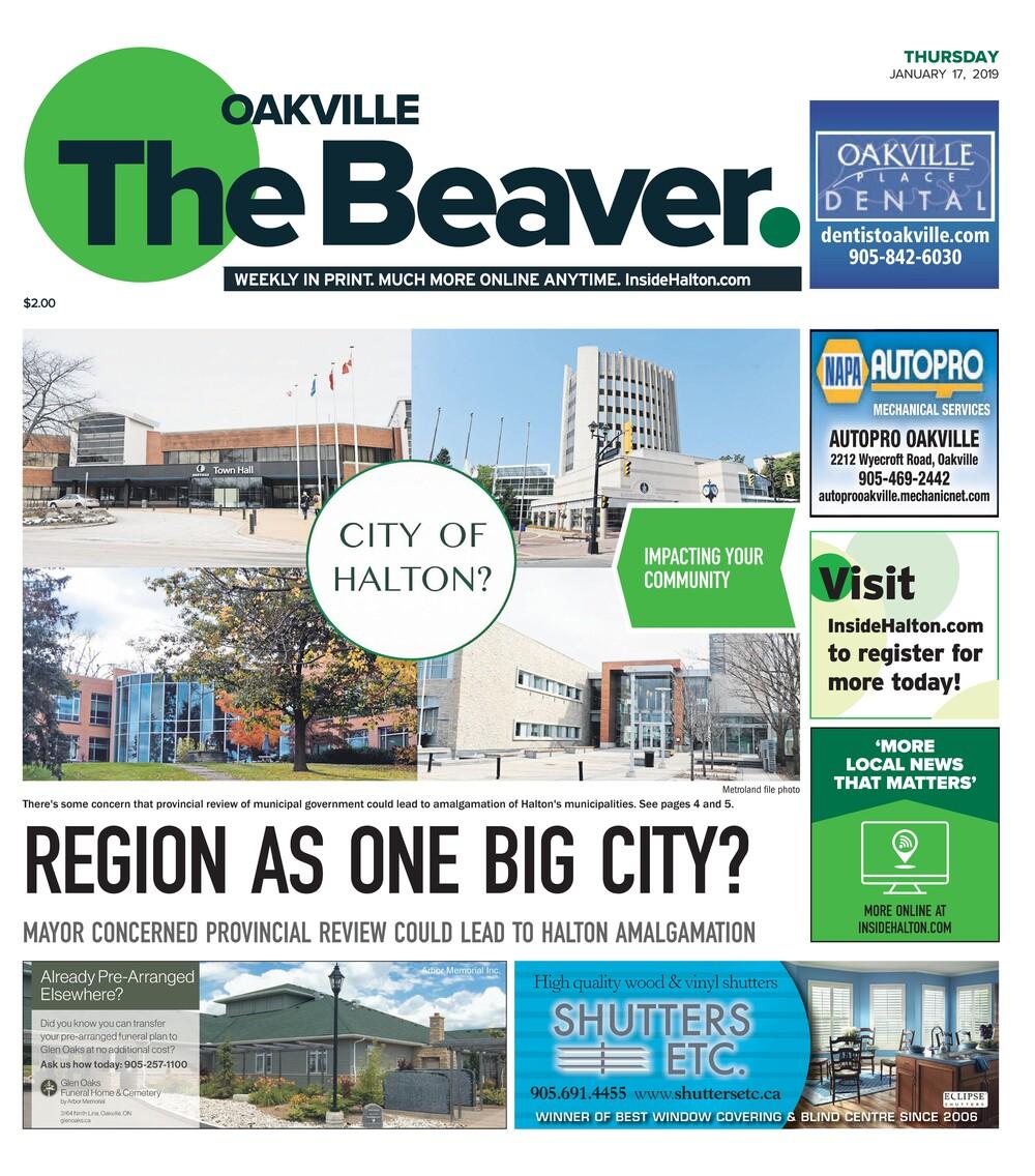 Oakville Beaver, 17 Jan 2019
