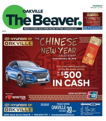 Oakville Beaver, 21 Feb 2019