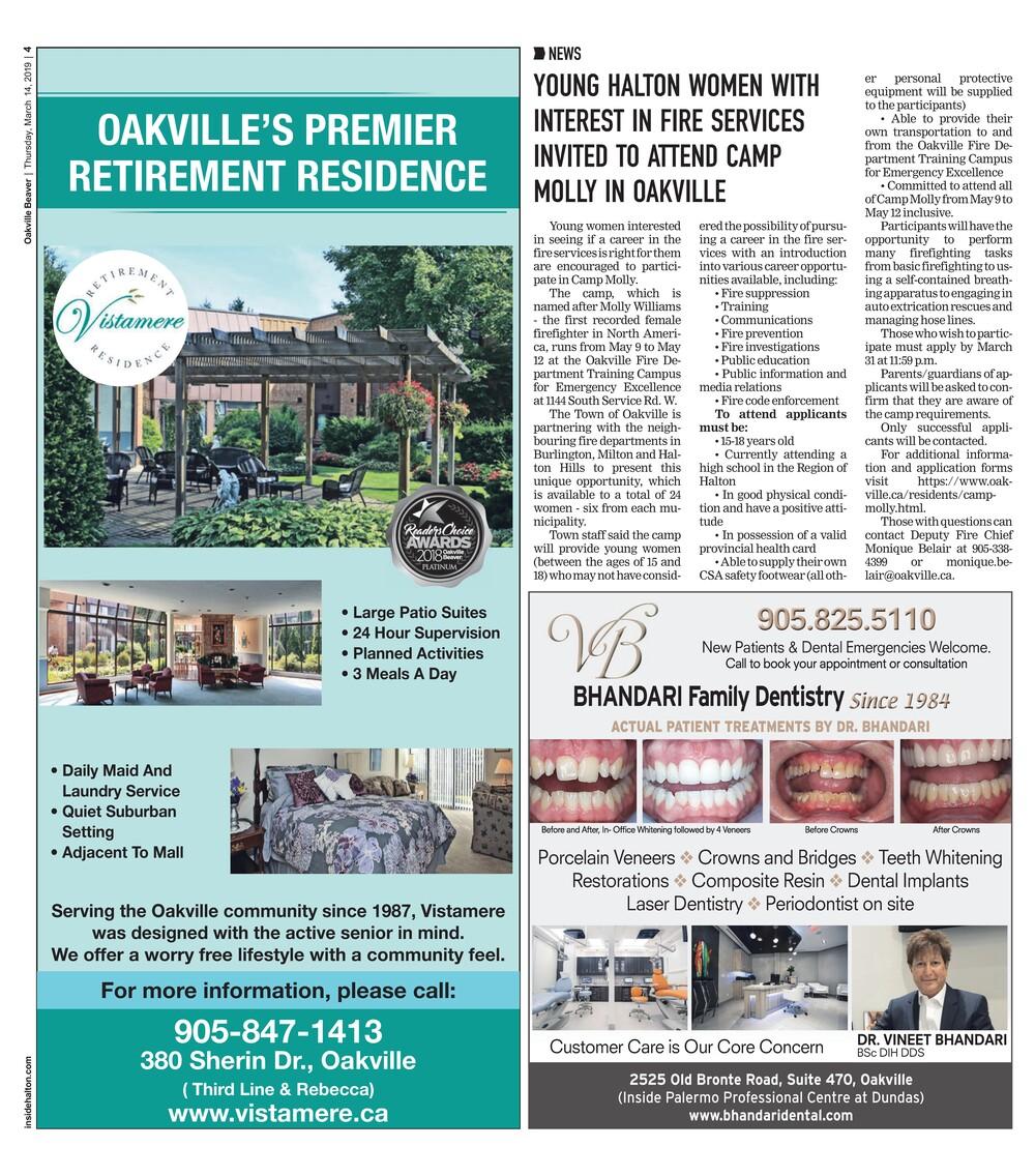 Oakville Beaver, 14 Mar 2019
