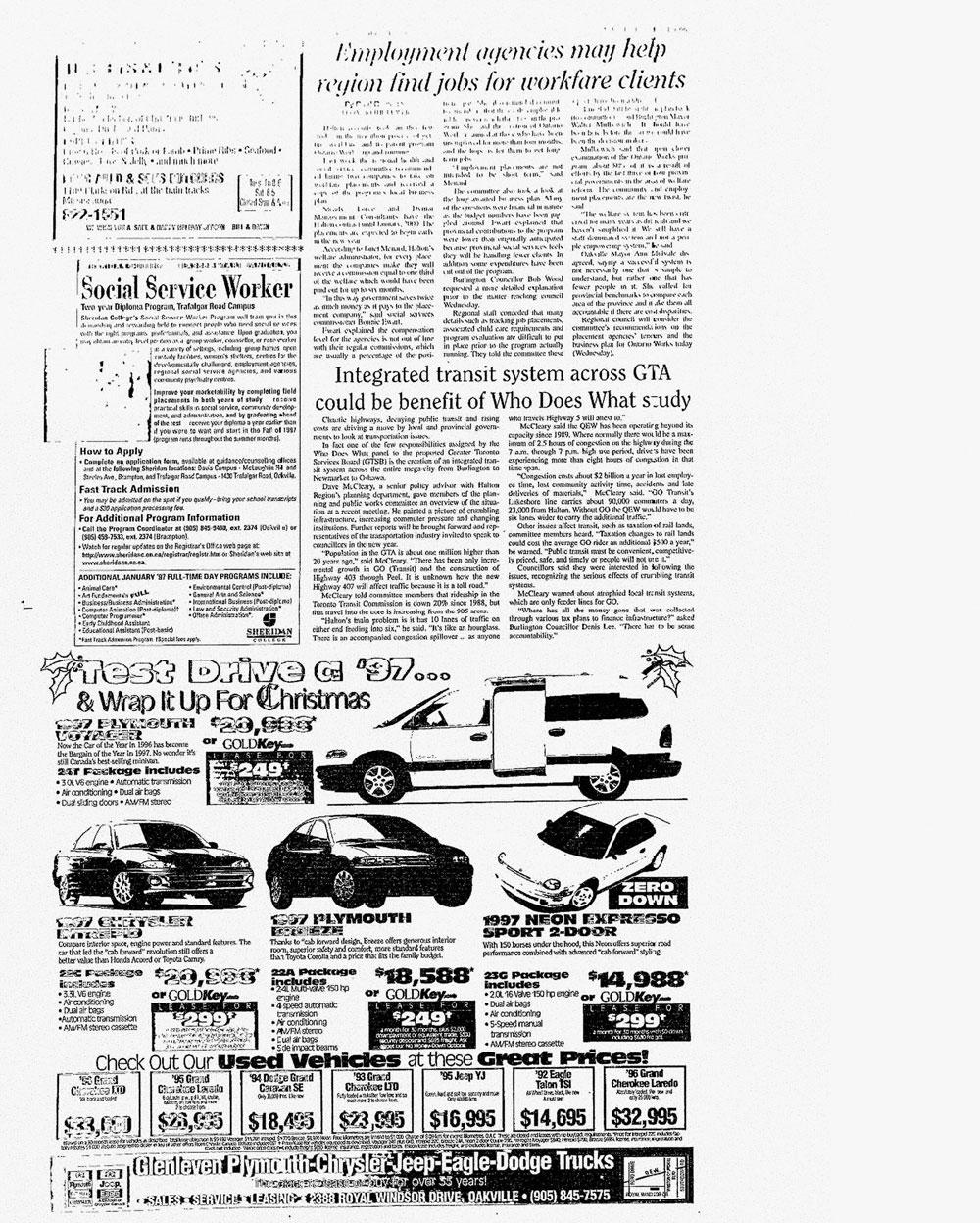Oakville Beaver, 11 Dec 1996