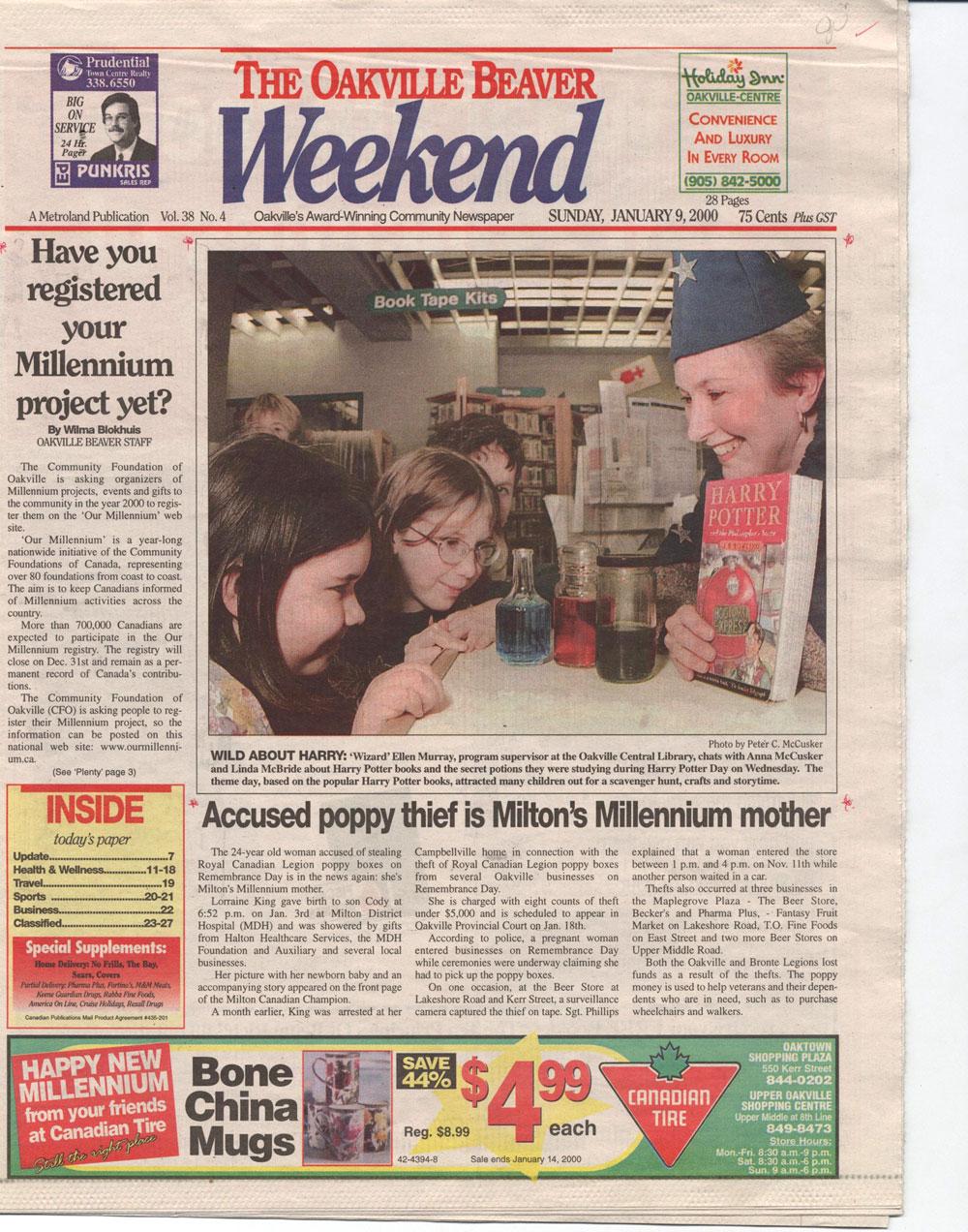 Oakville Beaver, 9 Jan 2000