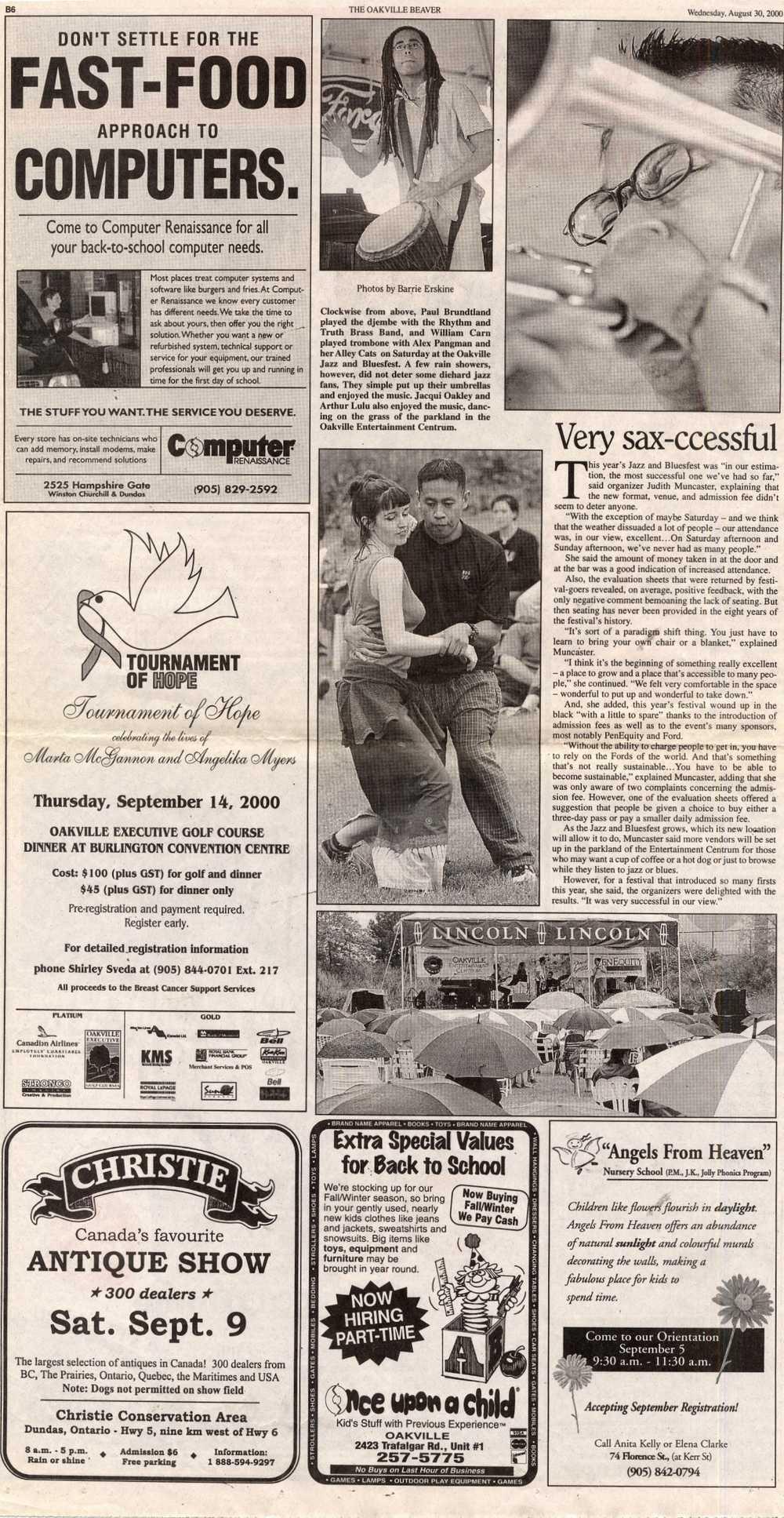 Oakville Beaver, 30 Aug 2000
