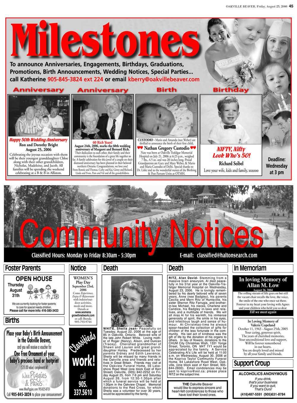 Oakville Beaver, 25 Aug 2006