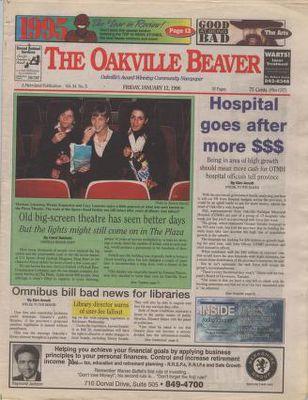 Oakville Beaver, 12 Jan 1996
