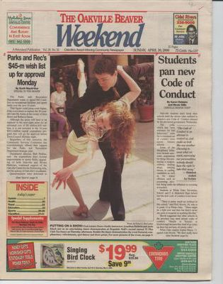 Oakville Beaver, 30 Apr 2000