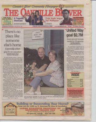 Oakville Beaver, 29 Sep 2000