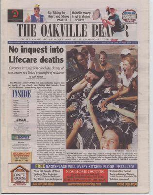 Oakville Beaver, 18 Jul 2003