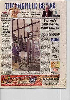 Oakville Beaver, 22 Oct 2004