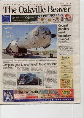 Oakville Beaver, 27 May 2005