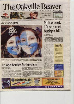 Oakville Beaver, 25 Nov 2005