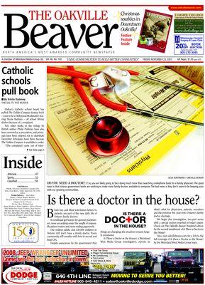 Oakville Beaver, 23 Nov 2007