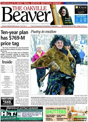 Oakville Beaver, 30 Jan 2008