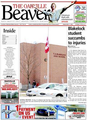 Oakville Beaver, 11 Apr 2008