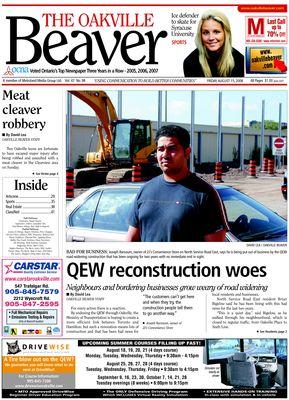 Oakville Beaver, 15 Aug 2008
