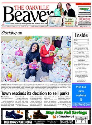 Oakville Beaver, 24 Oct 2008