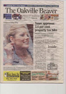 Oakville Beaver, 29 Mar 2006