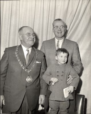 Mayor Anderson, Councillor Hart and Eric
