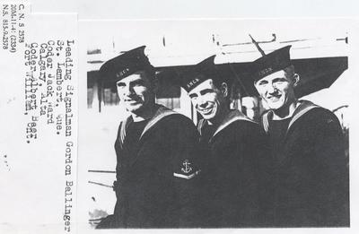 Three HMCS OAKVILLE sailors on ship