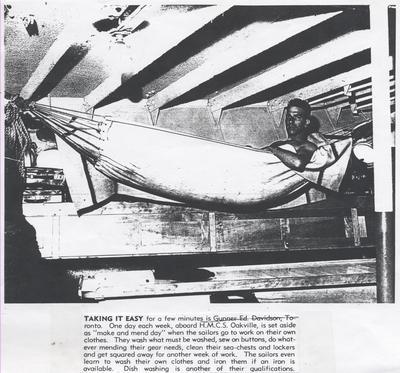 Sailor in hammock