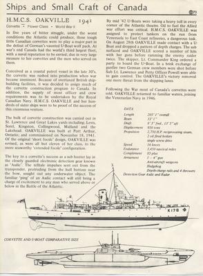 Fact sheet on HMCS OAKVILLE