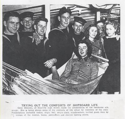 High school students tour HMCS Oakville