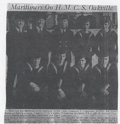 """""""Maritimers on H.M.C.S. Oakville"""""""