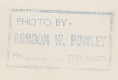 Reverse of HMCS Oakville photo HMCS00140, Photographer Gordon W. Powley of Toronto