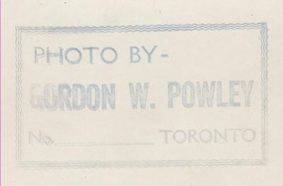 Reverse of photo HMCS00141 by Gordon W. Powley of Toronto