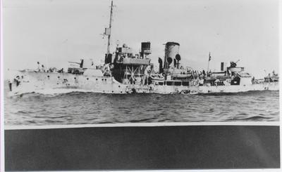 HMCS Oakville at sea