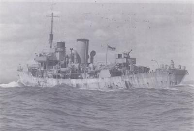 HMCS Oakville Winter 1942/43 Caribbean Sea