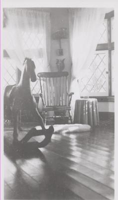 Rocking horse in nursery