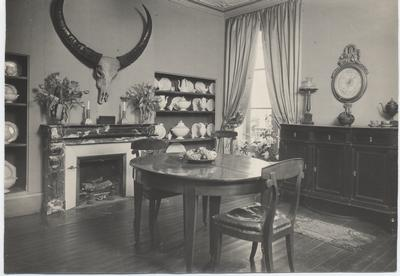 Juliet Chisholm's dining room in her French residence