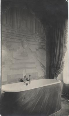Juliet Chisholm's bathroom in her French residence