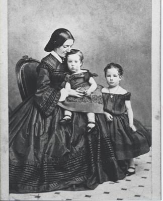Flora Matilda, George and Alice Chisholm (young children)
