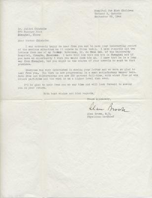 Juliet Chisholm correspondence