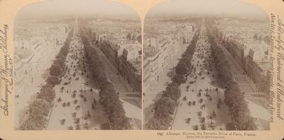 Champs Elysees, the Favorite Drive of Paris, France.