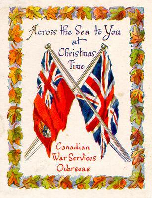 Canadian War Services Overseas Christmas card