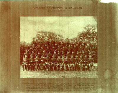 Members of Original 4th Canadians, West Sandling, September 3, 1917.