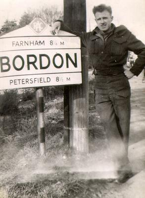 William (Bill) Cook at Bordon, England