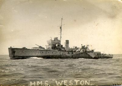HMS Weston, Royal Navy sloop, Falmouth class, Second World War