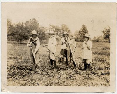 Farmerettes in the Oakville region during the First World War