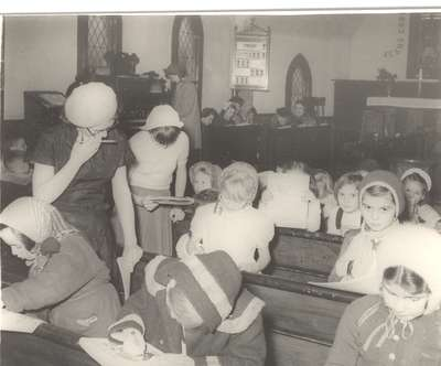 Sunday school class perhaps?