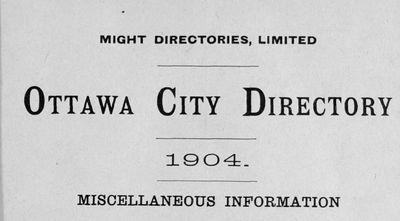 1904 Ottawa City Directory