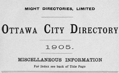 1905 Ottawa City Directory