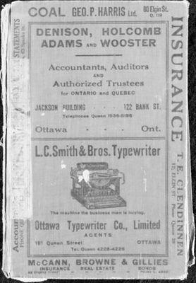 1923 Ottawa City Directory