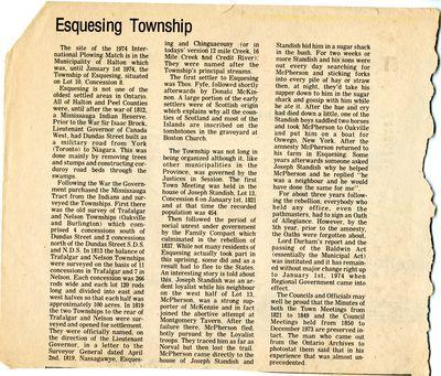 Esquesing Township