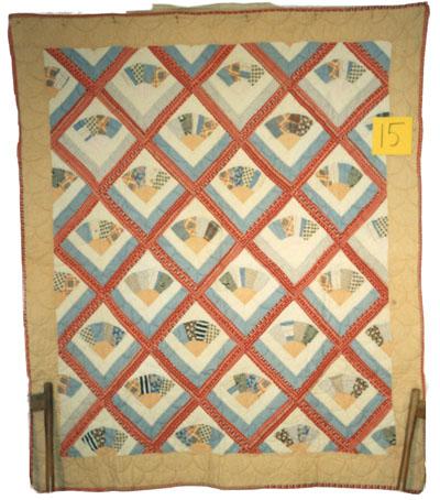 Fan/Clamshell Quilt circa 1920