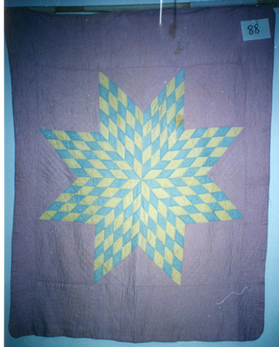 Eight-Pointed Star Patchwork Quilt circa 1954