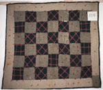 Wool Coverlet Crib Quilt circa 1940