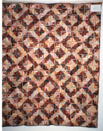 Little Log Cabin Quilt circa 1900